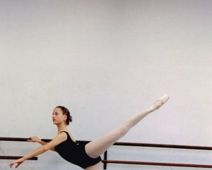 Sarah at barre (approximately  age 17)