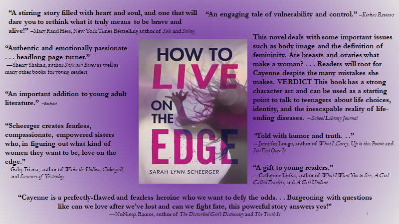 "Reviews of ""How to Live on the Edge"" by Sarah Lynn Scheerger"