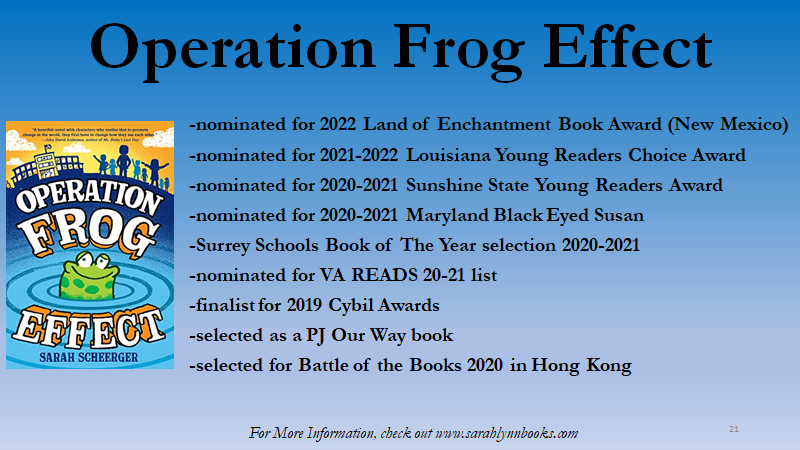 Operation Frog Effect is nominated for several awards